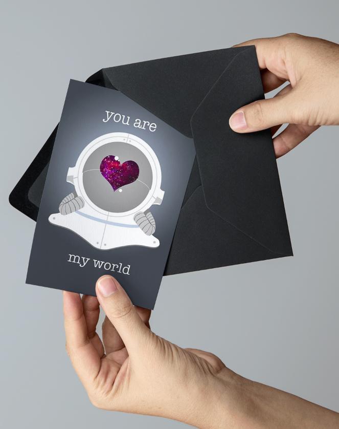 Astronaut Valentine's Day Card