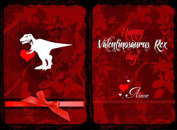 T-Rex Valentine's Day Card, 2013
