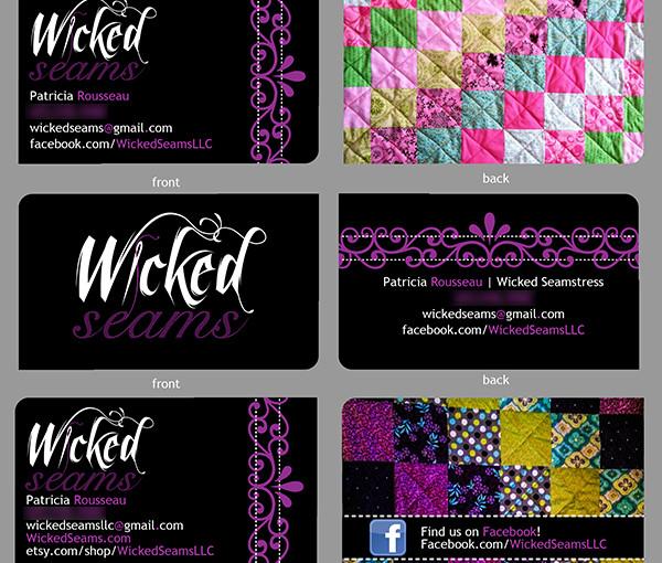 Wicked Seams Business Card & Logo Design