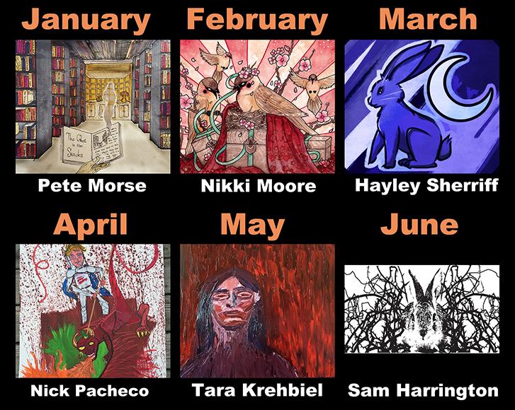 January through June 2016 Calendar Artists