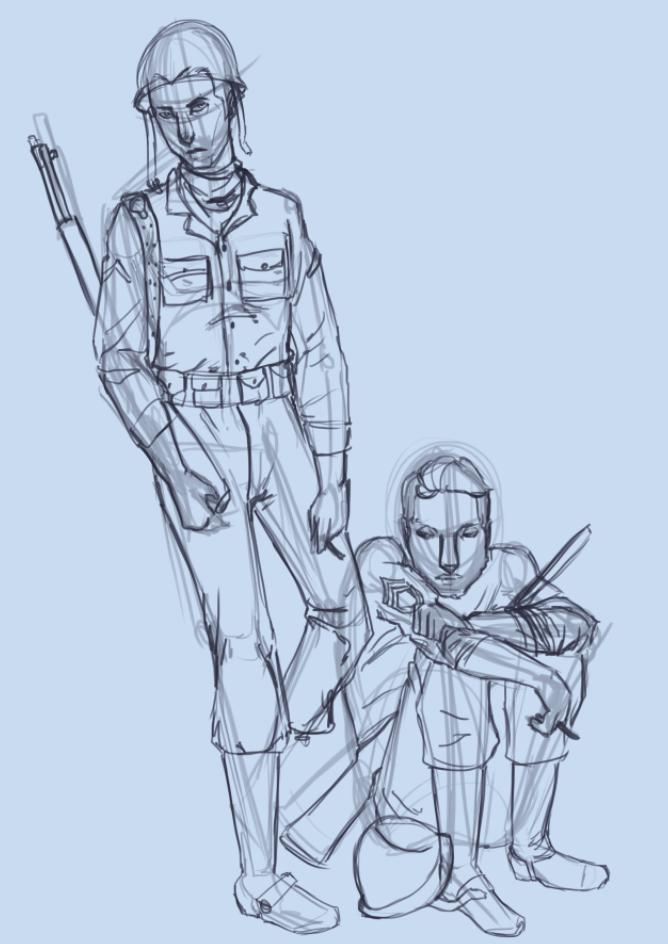 Squadmates Digital Sketch