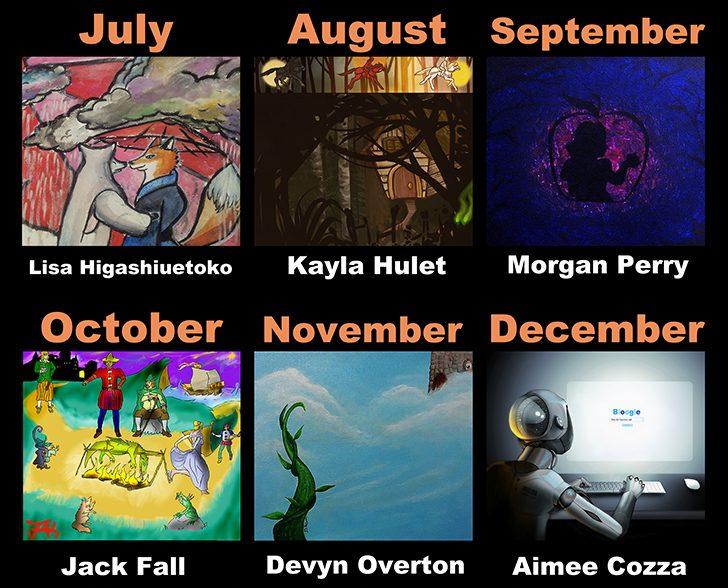 July through December 2016 Calendar Artists