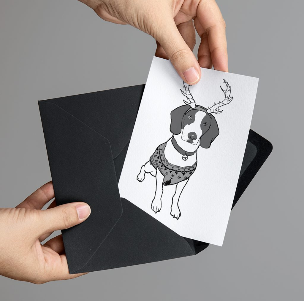 2015 Cute Beagle Dog Card