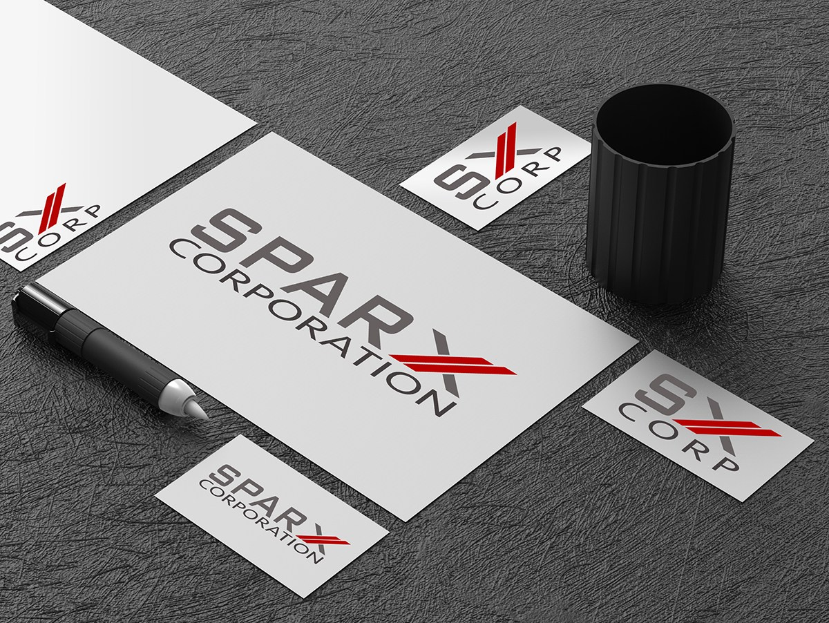 Sparx Corporation Logo & Fav Icon Design, 2018