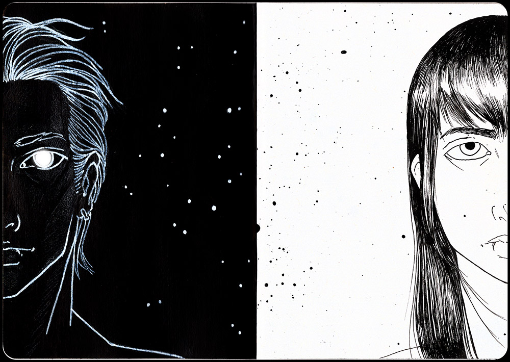 If the Stars Aligned Sketchbook Page 1