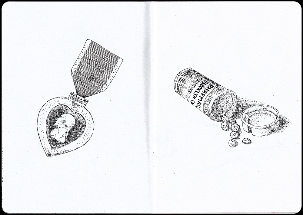 If the Stars Aligned Sketchbook Page 8 and 9