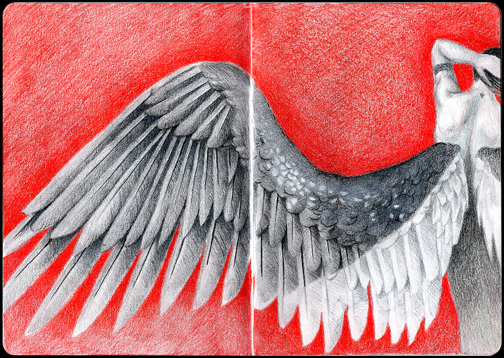 If the Stars Aligned Sketchbook Page 12 and 13