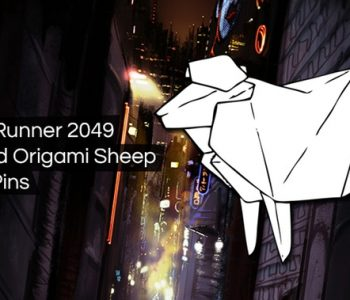 Blade Runner 2049 Origami Sheep Pin Kickstarter
