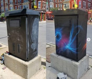 Manchester Utility Box Unpainted and Painted