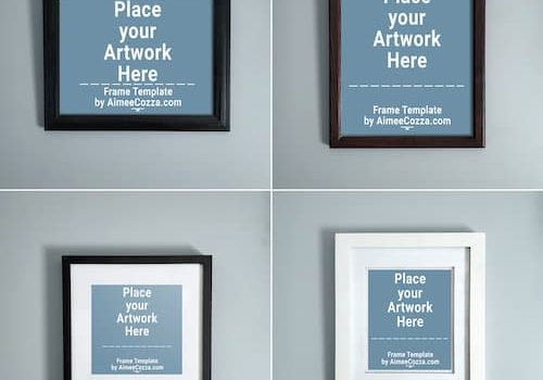 4 Different Picture Frame Mockups