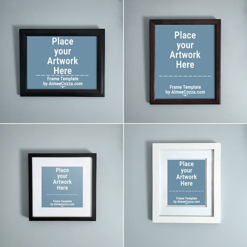 4 Different Types of Picture Frame Mockups