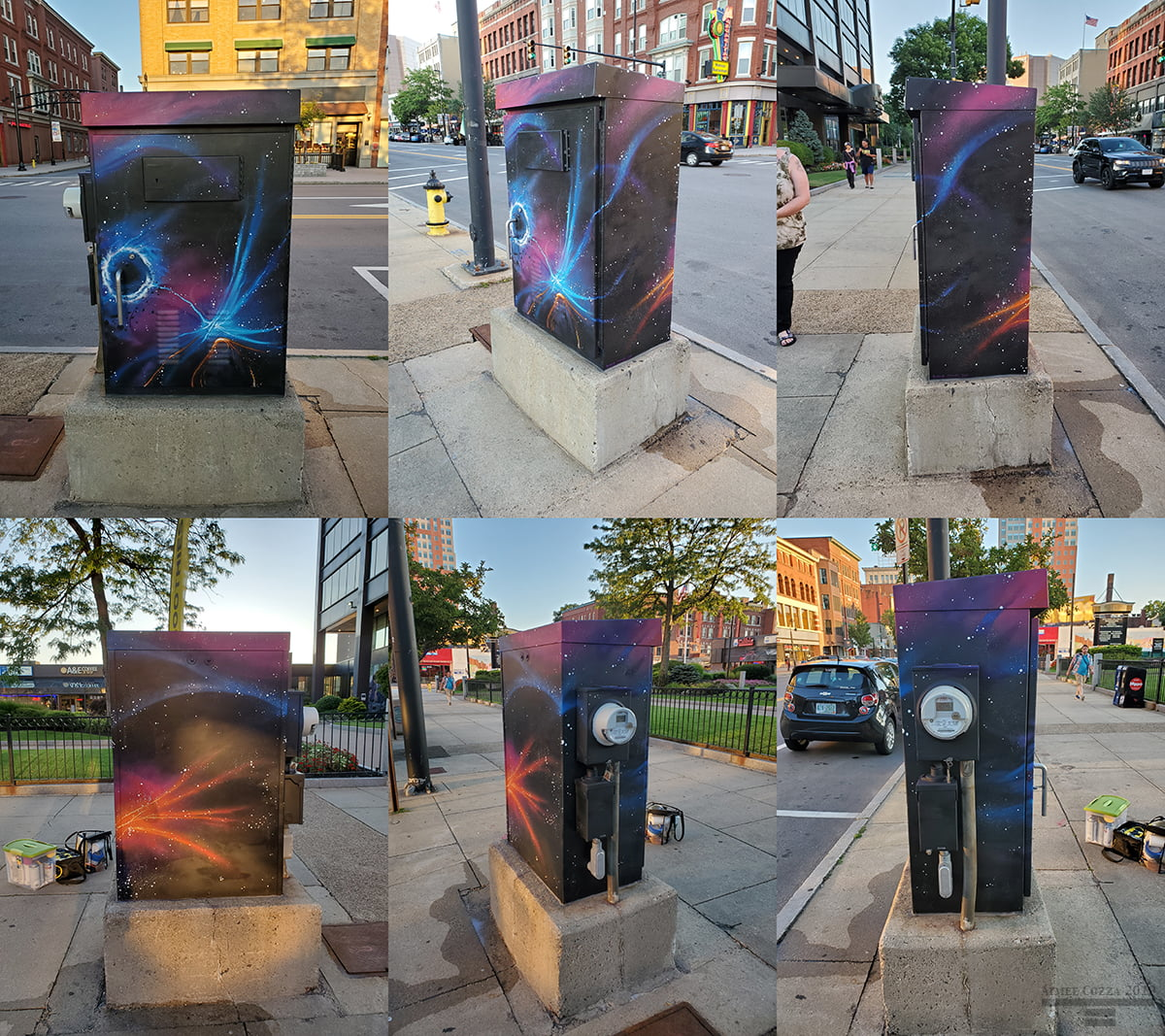 Utility Box Mural, 1000 Elm St, Manchester, NH