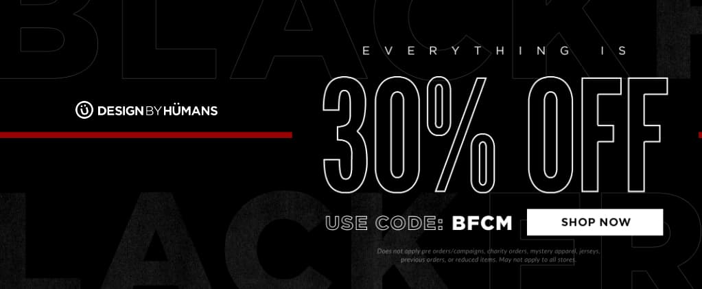 Design By Humans Black Friday Coupon
