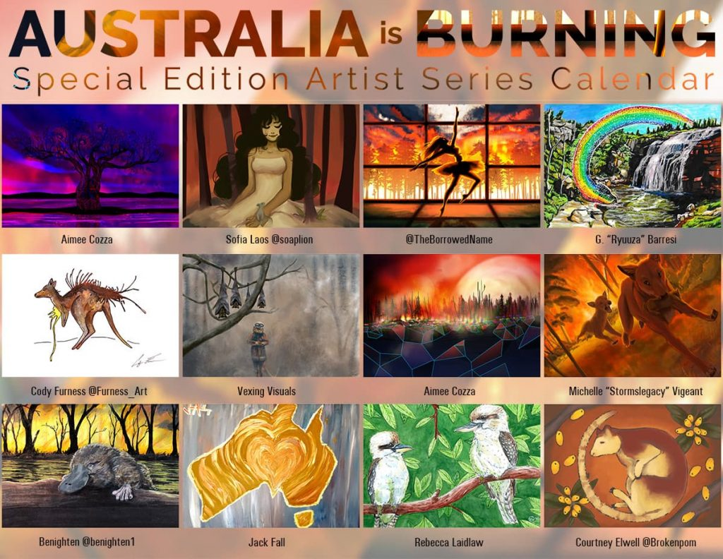 Australia is Burning Participating Artists