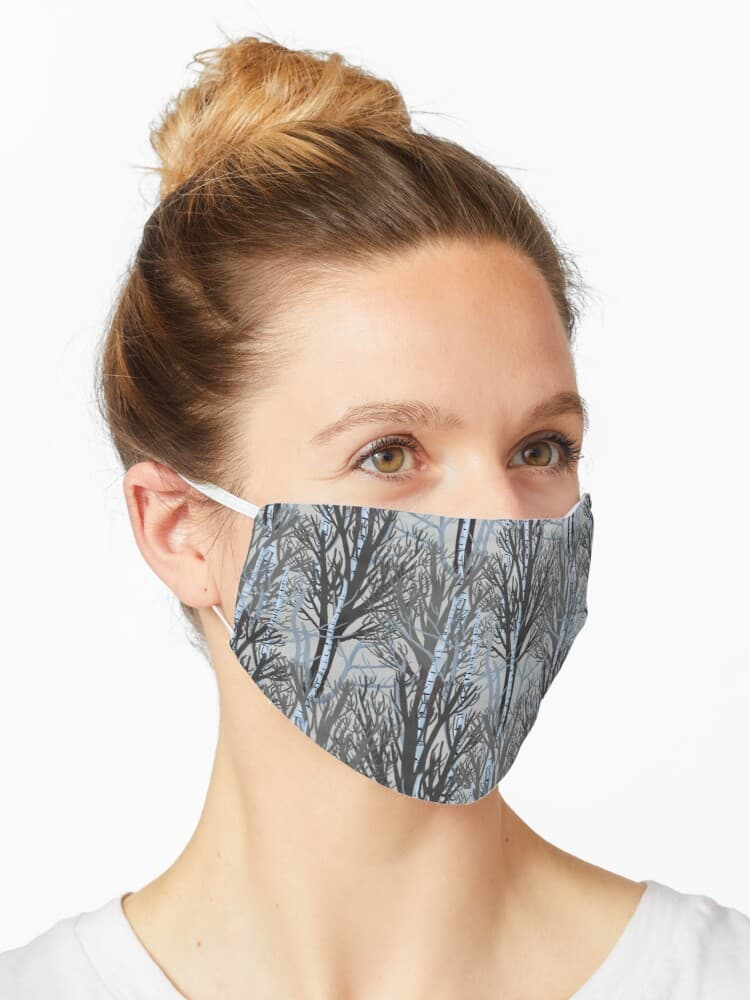 Winter trees facemask