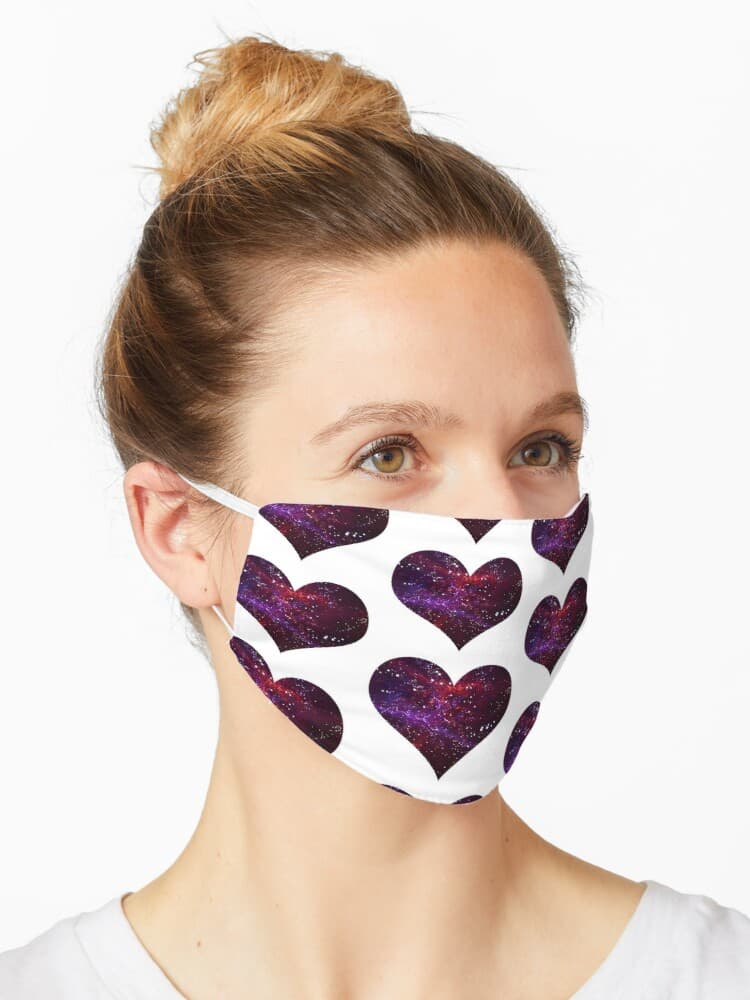 Nebula heart facemask