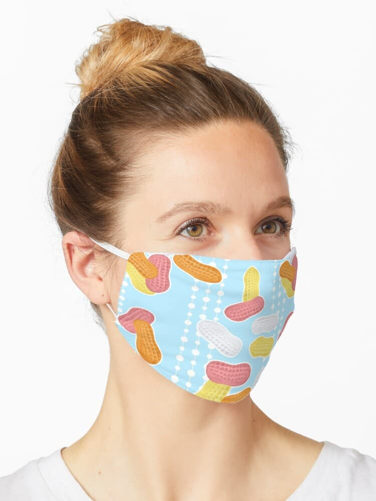 Blue circus peanuts facemask